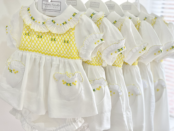 Hand smocked embroidered  2 piece Dress set