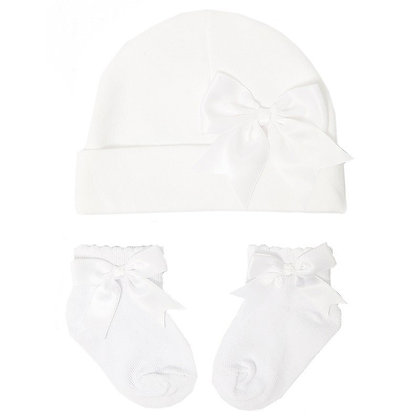 Baby Bow Hat and Socks Set