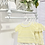 Thumbnail: Baby Girls Frill Neck jam pant set with with Bows - LEMON