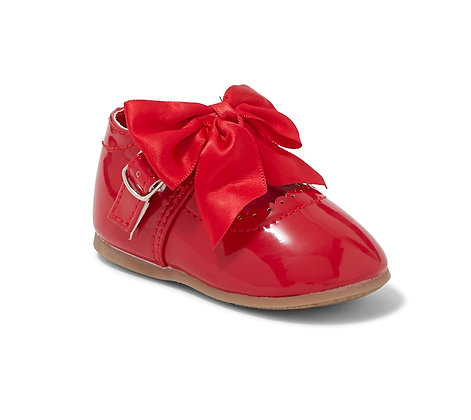 RED Bow Shoe hard sole