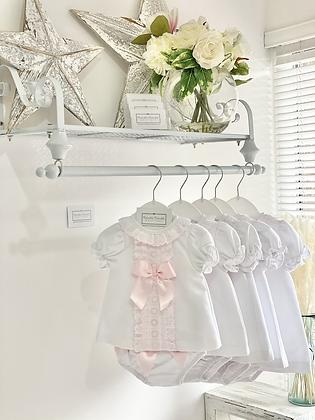 Dress Set- WHITE /PINK