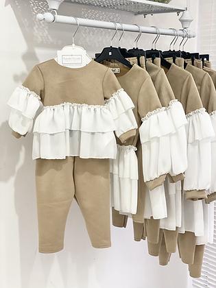 Girls Loungewear set 6m upto 14yrs  - Camel
