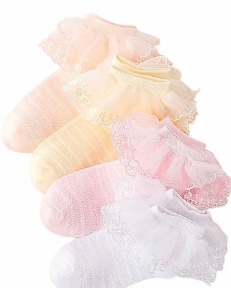 4 Pair's of Ankle Frilly Socks
