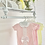 Thumbnail: Baby Girls Ribbon Slot Bow Romper - PINK