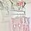 Thumbnail: Baby Girls Polka Dot Pink Romper