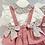 Thumbnail: Girls Floral & Dusky Pink Skirted Bloomer set