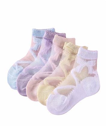 5 Pair's of Ankle Transparent  Socks