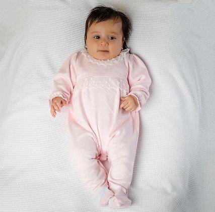 Emile et Rose - Winette Pink Lace Trim Babygrow