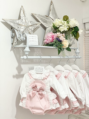 Baby Girls Pink Romper set