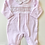 Thumbnail: Baby Girls Embroidered Cute Babygrow - PINK