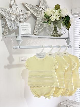 Baby Girls Knit 2 Piece Set - LEMON