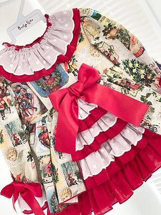 Ricittos - Baby Girl Christmas Puffball Dress