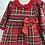 Thumbnail: Baby Girl Red Smock Tartan Dress