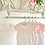 Thumbnail: Baby Half Knit Romper - WHITE/PINK
