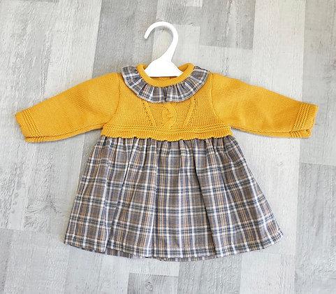 Baby Girl Dress - Mustard