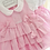 Thumbnail: Baby Girls Pink Dress , pants & Headband set
