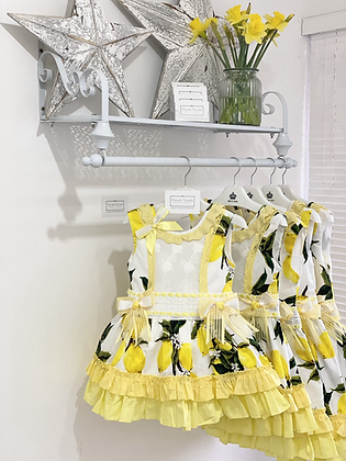 Beau Kid - Girls Lemon Print Dress