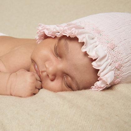 Sarah Louise - Smocked Baby Bonnet Pink