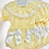 Thumbnail: Girls Smock Lemon / White Jam pant set
