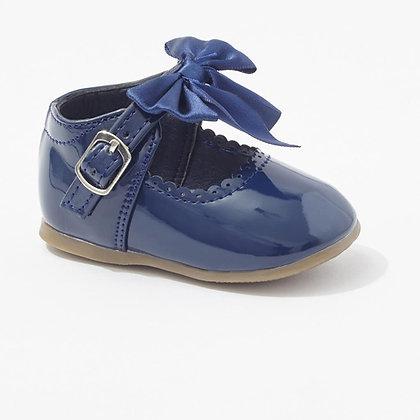 NAVY Bow Shoe hard sole