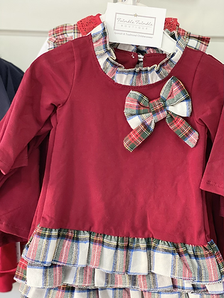Girls wine Red Dress 3months - 12years