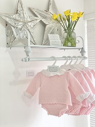 Baby Girls Knit jam pant Set - BABY PINK
