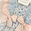 Thumbnail: Baby Girls Blue & Pink  Floral Romper