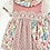 Thumbnail: Girls Lace and  Floral Dusky Pink Dress