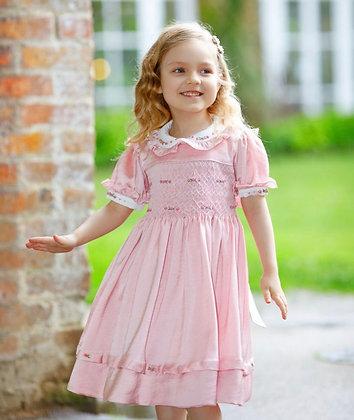 Smocked Dress - Dusky Pink