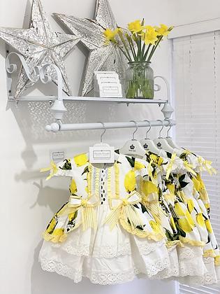 Beau Kid - Girls Lemon Print Dress