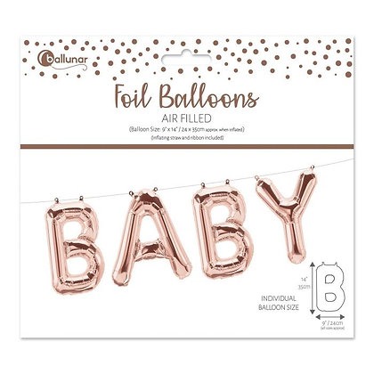Baby Foil Balloons -  ROSE GOLD