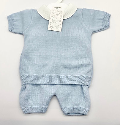 Baby Boy's  knit loungewear Set 6m -36m - Blue