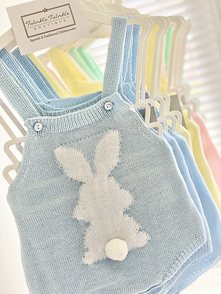 Baby Bunny Knitted Romper - BLUE