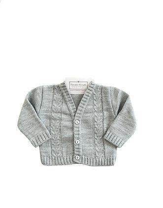 Boys Knit Cardigan - GREY