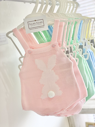 Baby Bunny Knitted Romper - PINK