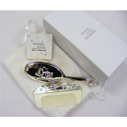 Twinkle Twinkle Silver Brush & Comb set
