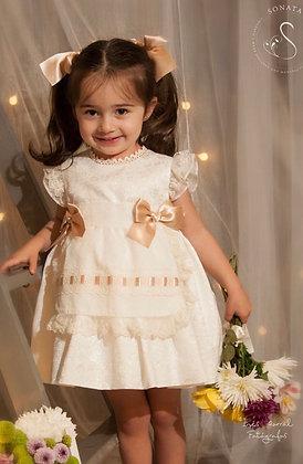 Sonata - Penny Pufball lace Cream Dress 305