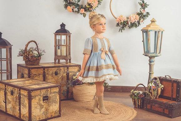Lolattes - SS21 Pre Order Jaqueline-v Dress BLUE