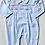 Thumbnail: Baby Boys Embroidered  Smock Toy Babygrow - BLUE