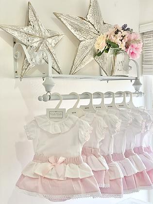 Baby Girls Skirted Bloomer Jam Pant Set - PINK