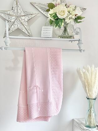 Baby Spanish shawl/Blanket - PINK