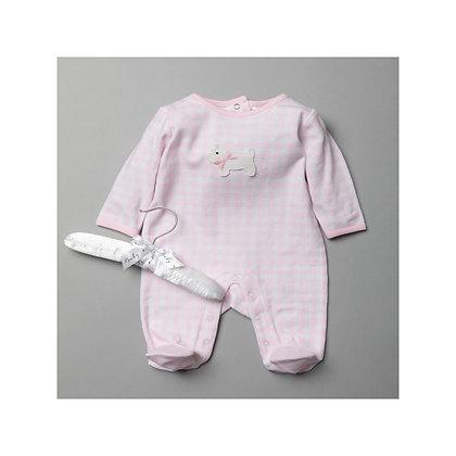 Baby Pink Gingham Sleepsuit 0-9