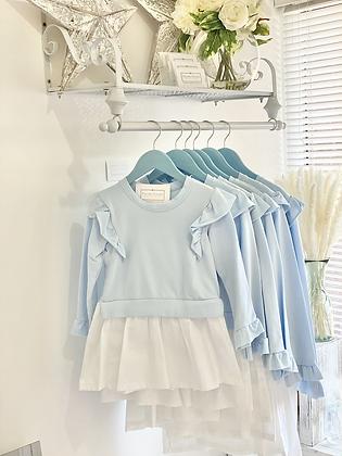 Girls Jumper Dress  4-14yrs - BLUE