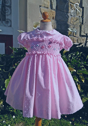 Sonata - Pink Smocked Puffball Dress 623