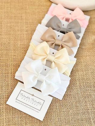 Baby Soft Stocking Bow Headband