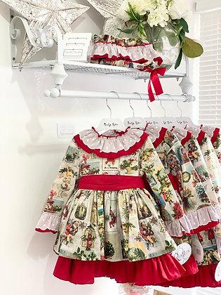 Ricittos - Girl Christmas Puffball Dress