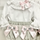 Thumbnail: Baby Girls Grey & Pink  Smock jam pant & Shirt Set