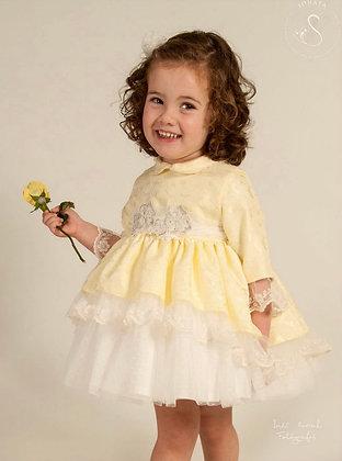 Sonata - lemon Lace Puffball dress 325