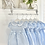 Thumbnail: Girls Smcok Bow Blue & White Dress 3m -3yrs