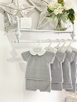 Baby Boys knit  Set - GREY